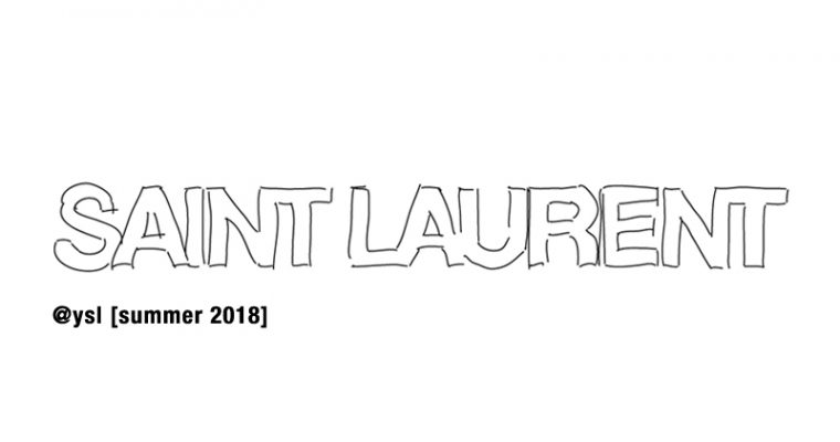 creatives – Saint Laurent – spring and summer 2018
