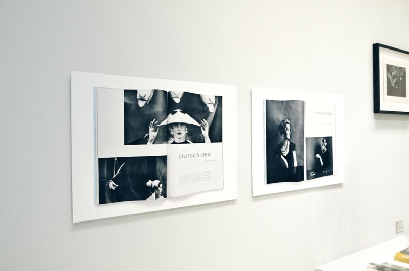 GUY BOURDIN - Chapeaux-Choc - Prints Vogue Paris - 1955 - Installationsansicht aus der Ausstellung im Haus der Photographie / Deichtorhallen Hamburg - 1.11.2013 - 26.1.2014 GUY BOURDIN - Kurator Ingo Taubhorn