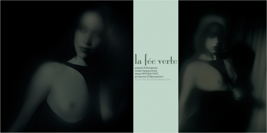 STSchwanitz - la fée verte - featuring model Katjuschenka - photographic edition