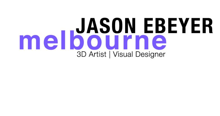 kreateur – 3D artist – visual designer – JASON EBEYER – werk – inspiration